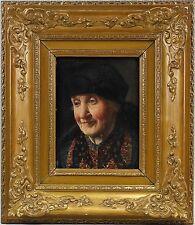 Ulmer, Porträt einer alten Frau, Öl/Holz,7560123