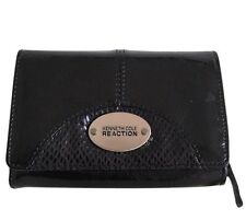 NEW Kenneth Cole Reaction Women's Black Patent Leather Wallet Organizer