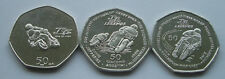 2016, 2015 & 2014 ISLE OF MAN TT LEGENDS & JOHN McGUINNESS 50p COINS FREE P&P