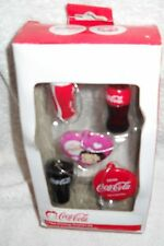 #3619 NIB Kurt Adler Coca Cola Betty Boop 5 Pc Mini Ornaments