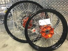 "WARP 9 CUSTOM WHEEL SET 21"" 18"" KTM 690 ENDURO ABS MODELS CUSH HUB"