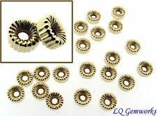 20  ea 14k GOLD FILLED 6mm Corrugated Rondelle Beads