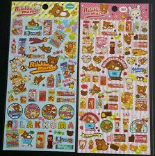 San-x Rilakkuma Rilakkumarket Sticker Sheet LOT stickers Kawaii Japan Candy