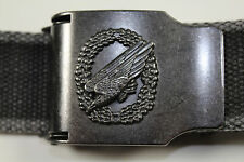 """Beautiful German Army Paratrooper Belt With Eagle On Belt Buckle 39.37"""" / 100 cm"""