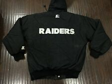 Vintage�� Starter NFL Oakland Raiders Black Zip Snap Jacket Sz Medium Men's RARE