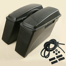 Matte Black Hard Saddle bags For Harley Softail Sportster 883 1200 Touring FLHR