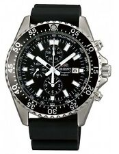 Orient Captain FTT11004B Men's Resin Band  Black Dial Chronograph Watch