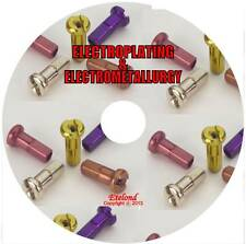 Metal Plating Electroplating Electrometallurgy Gold Silver Copper/eBooks on CD