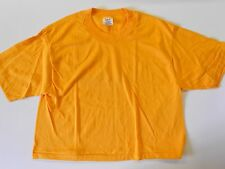 "NOS Vintage '80's Stedman Half Tee-Shirt X-Large Sports Workout Gold 44"" USA!"