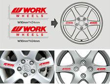 Work Wheels Sport Racing Car Rim Wheel Sticker Logo Decal Fit Subaru Toyota etc