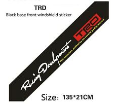 Toyota Racing Development TRD Black Base Front Windshield Decal Badge Sticker