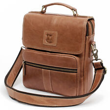 Vintage Leather Messenger Bag Shoulder Bag Briefcase Cross Bag Retro Mens Bag