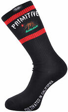 Primitive Cultivated California State Bear Crew Sock Sox Ribbed Black Footwear
