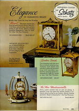 1957 PAPER AD Schatz Brass Glass Clocks 8 Day Cuckoo Clock DuBarry Du Barry