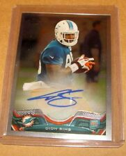 DION SIMS -  2013 Chrome Rookie On Card Auto /600 Dolphins RC Autograph