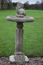 Squirrel Birdbath - Stone Birdbath - Garden Birdbath