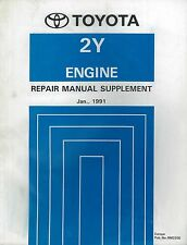 1991 TOYOTA HILUX 2Y MOTOR ENGINE HANDBUCH REPAIR MANUAL RM233E SUPPLEMENT