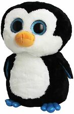 "TY Beanie Boo Large 16"" Plush Penguin Waddles"