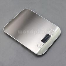 Digital LCD Küchenwaage Edelstahl 5kg/1g Grammwaage Briefwaage Feinwaage waage