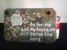 "Vintage Hand Painted And Signed Slate Tile 9""X6"" In Excellent Condition Made USA"