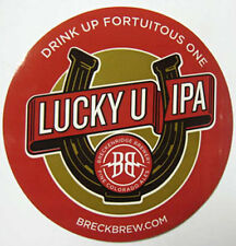 LUCKY U IPA Beer STICKER Breckenridge Brewery, COLORADO, Drink Up Fortuitous One