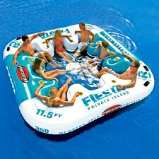 Giant Water Raft Inflatable Lounge Island Float Swim Boat Lake Pool River Large