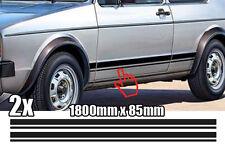 VW Golf 1 GTI Sportstreifen Autoaufkleber Dekor Seitenstreifen Aufkleber Kult