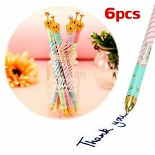 6pcs 0.5mm Crown Blue Ink Ballpoint Pen Kid Study Stationery Gift Office Supply