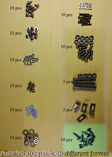 Set of Allen Bolts, Machine Screws,  Locknuts, nuts  Lot of 100 pcs Complete set