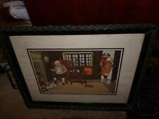 HARRY ELIOTH VNT. CAROON FRAMED MADE INTO A SERVING TRAY RARE