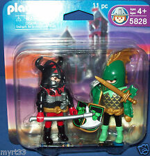 PLAYMOBIL 5828 GREEN dragon KNIGHT & VIKING 2 FIGURE PACK , 4-10, Boys, 2007