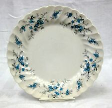 "REDUCED! Myott Forget-Me-Not 2 10"" Dinner Plates 6 Bread & Butters Staffordshire"