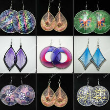 12Pairs Wholesale Jewelry Lots silk thread Mix Style Fashion Drop Earrings