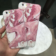 Red Marble Stone Rock Pattern Rubber Case Crystal Cover For iPhone 6 / 6s 4.7''
