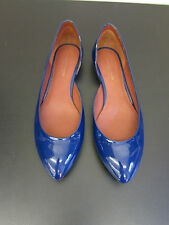 NEU Bottega Veneta Ballerinas Lackleder blau D37,5 UK4,5 blue patent leather