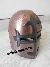 Sugar Helmet Copper Antique Finish With Mason's Black Cross Roleplay helmet