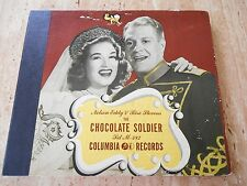 "78 RPM ALBUM ""THE CHOCOLATE SOLDIER"" M-482 NELSON EDDY/RISE STEVENS 1945"