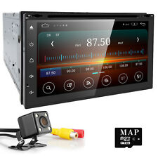 "Free Camera 7"" Double DIN Car Stereo GPS In-Dash Head Unit Radio Touch Screen SD"