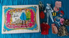 1968 THE WORLD OF BARBIE MATTEL DOUBLE DOLL CASE W/ ASST CLOTHES & ACCESSORIES