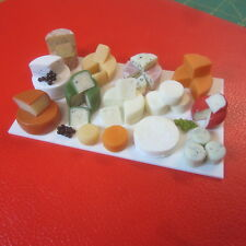1/12 scale Dolls House Food  Selection of Cheese on Display Board F259