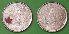 2013 Canada Colored & NonColored Laura Secord 25 Cents From Mint Rolls