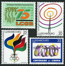Luxembourg 946-949,MI 1392-1395,MNH.Radio,Motion Picture,Olympic Games,cent.1996