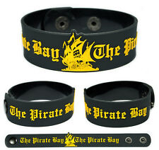 THE PIRATE BAY Rubber Bracelet Wristband Gold
