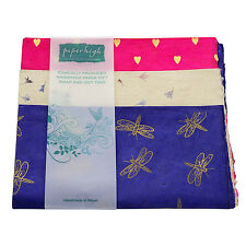 Fair Trade Lokta Paper Three Sheet Gift Wrap Pack GWP4