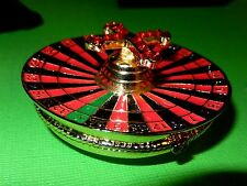 "Objet d'art Trinket Box--No. 34 ""Taking A Spin!""  Roulette Wheel--OPEN ME!!"
