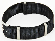 20mm Top Nylon Uhr Band Schwarz Uhrenarmband Textil Armband Army Watch Strap