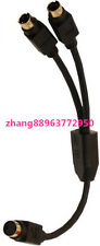 1 PC  NEW  S-Video 2 Female to Male Y Cable Adapter Splitter  Zhang88