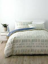 NEW Deco Prints Matchstick Queen Size Quilt Cover Set By Linen House