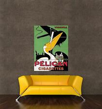 GIANT PRINT POSTER VINTAGE ADVERT PELICAN CIGARETTES RETRO SMOKING PDC200