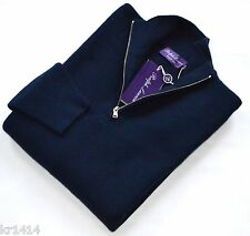 Ralph Lauren Purple Label Italy navy wool-cashmere  jumper pullover sweater S